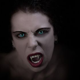 A first draft vampire image for a friends upcoming eBook.
