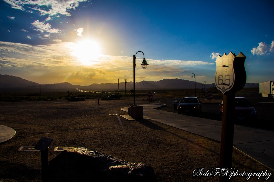 Sunset of Route 66