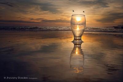 a sunset reflective