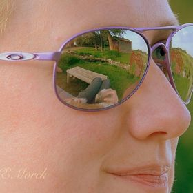 Reflections in sunglasses on a summer day