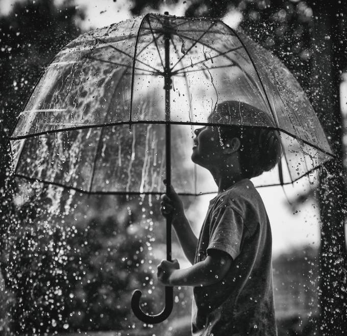 Singing in the Rain by nicholetomjanovichquinn - People and Water Photo Contest