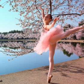 Cherry Blossom Dancer -  I spotted a young girl walking in a tutu with her family at the Cherry Blossom Festival in D.C.  I asked her (and her pa...