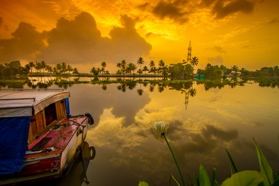 Sunrise @ Paravoor Village, Alleppey, Kerala