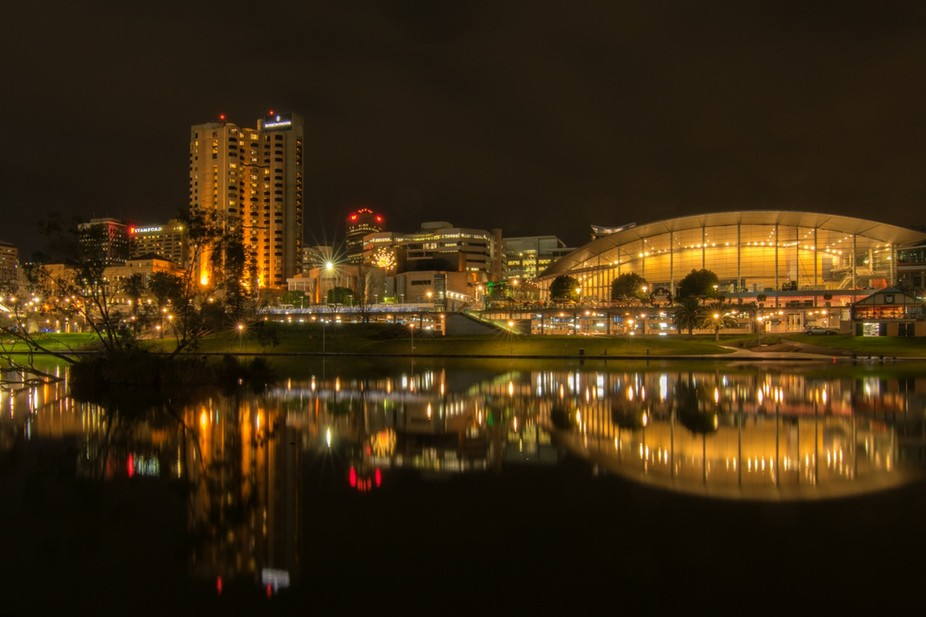 Adelaide over the Torrens