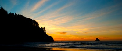 Sunset at Cape Meade Oregon