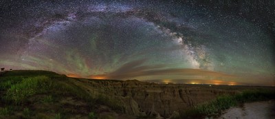 Badlands Milky Way Pinnacles Overlook