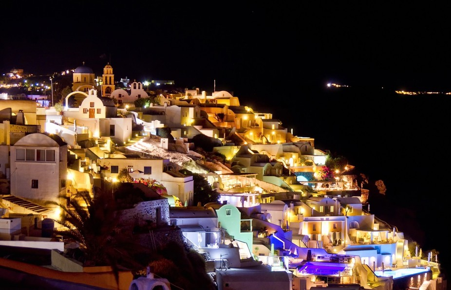Santorini is known as the jewel of the Greek Islands and it definitely did sparkle on the night I...