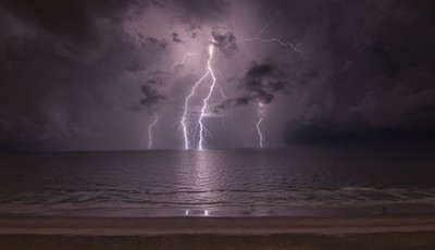 Myrtle Beach Lighting before the Storm