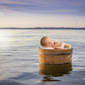 Lulled to sleep by gentle waves... {no babies were harmed in the making. This is a well planned composite:) I shot the sunset in my hometown of R...