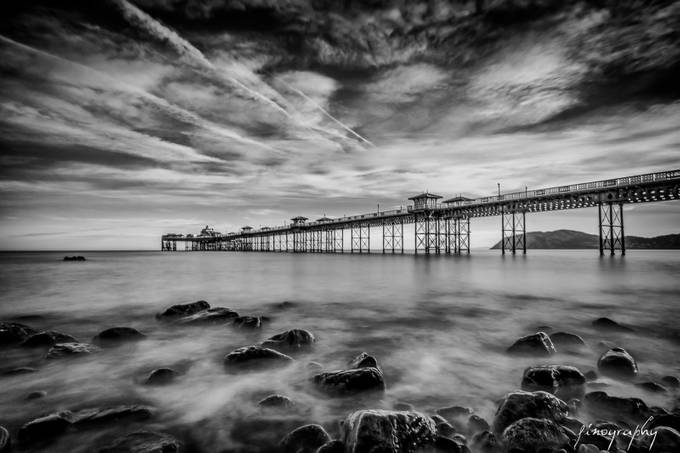Llandudno, Wales, UK Sunrise in Mono by hfino_photography - Black And White Compositions Photo Contest