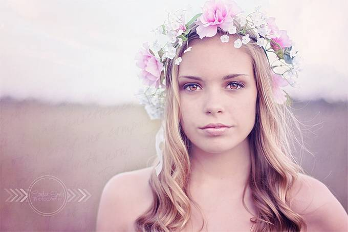 With Flowers in Her Hair by CandiceSmithPhoto - Faces Photo Contest by Focal Press