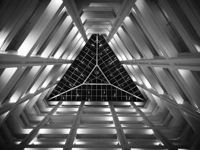 Lobby Look Up by tpeach1127 - Black And White Architecture Photo Contest