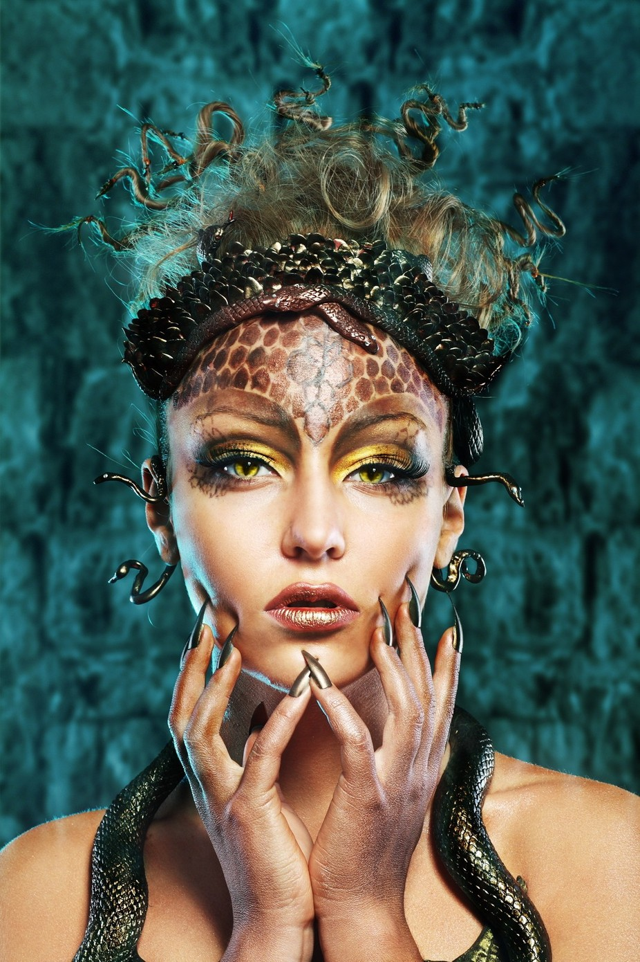 Gorgon girl in dungeon by olenazaskochenko - The Magic Of Editing Photo Contest