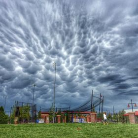 At a recent baseball tournament in Brighton, CO, a crazy storm went through.  The clouds were absolutely insane.  They looked like cottage cheese.