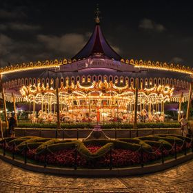 This shot of the King Arthur Carrousel at Disneyland was taken after midnight, which is just after the park closed. I waited until the crowds lef...