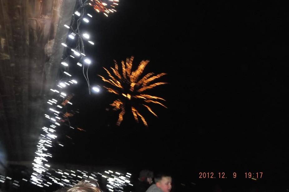 Nighttime fireworks