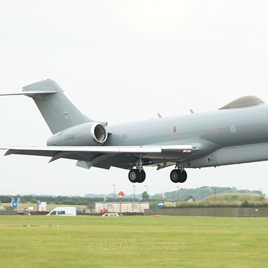RAF Sentinel about to touchdown RAF Waddington airshow !!!