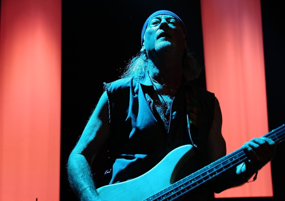 Roger Glover from Deep Purple on stage