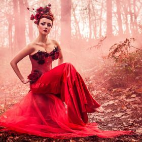 The stunning red rose had long bathed in the glory of nutritious sunlight and flourished with utter beauty and vividness. She was rooted, unable ...