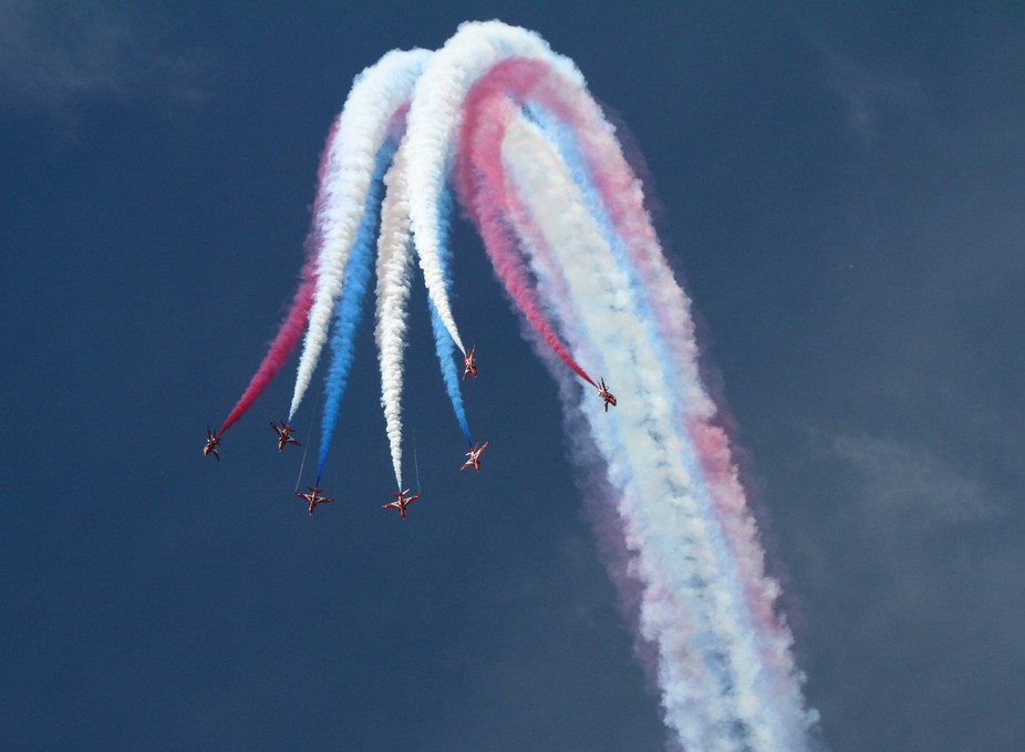 RIAT 2014 50th anniversary display by the Red Arrows