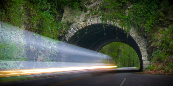 Light To Tunnel End by allanbarnett - Shooting Tunnels Photo Contest
