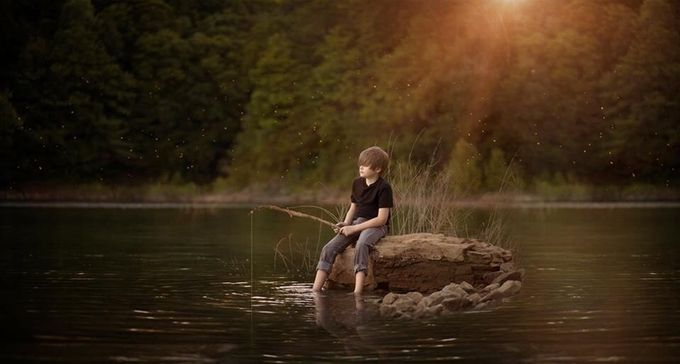 Fishing, fireflies, crickets and frogs by Lynzybrooke - Best Shot Photo Contest