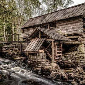 I went back to the old mill near Unnaryd in Sweden. It was hard to find a decent shot with all of the trees in their summer clothing, but I did f...