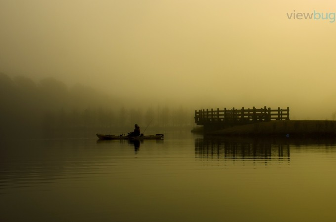 Foggy Morning Kayak Fishing by kippearsphotography