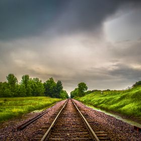 Train tracks in Wisconsin