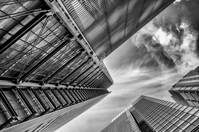 steel and glass by mags549 - Structures in Black and White Photo Contest