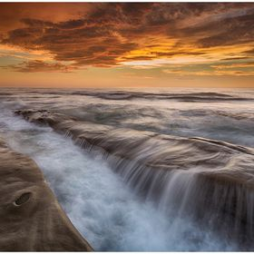 This beautiful colors and smooth waters was captured in La Jolla just after the sunset.