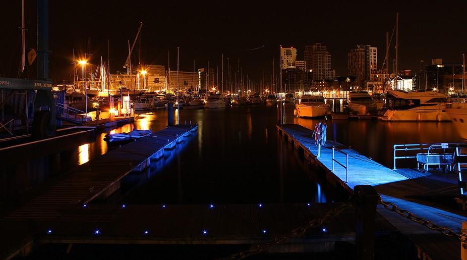 Ipswich Docks at night