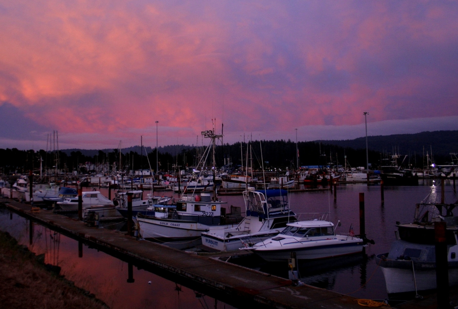 Stopped off in Cresent City, Ca for an overnight stay, and decided to walk across the street from my hotel to the Marina. Spent several hours there so as the sun was going down it made for some great colorful shots. Camera: Canon EOS DIGITAL REBEL XT Aperture: f/3.5 ISO: 400 Exposure: 1/25