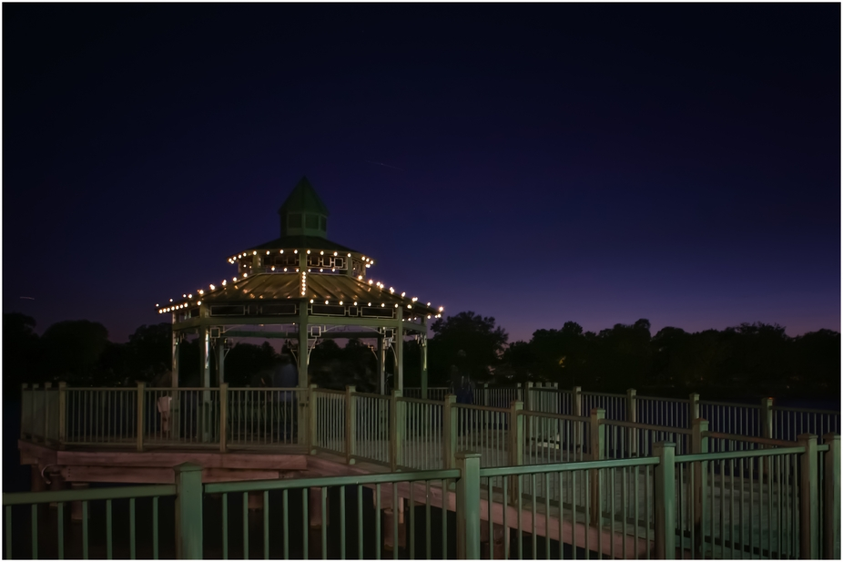 Town gazebo during that special Blue Hour
