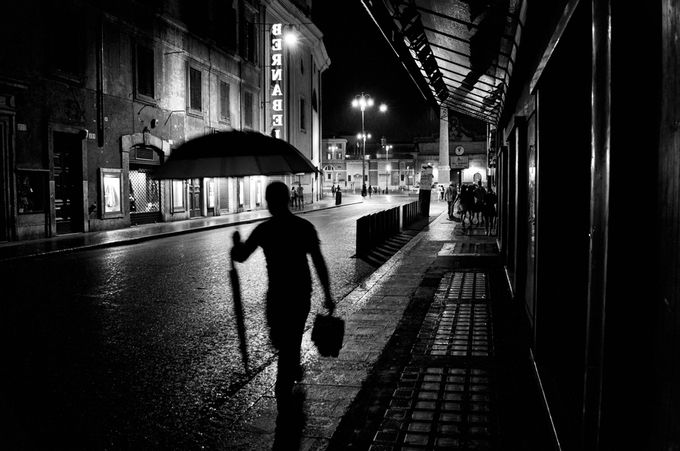 Soul under rain by francescotrimarchi - City Life In Black And White Photo Contest
