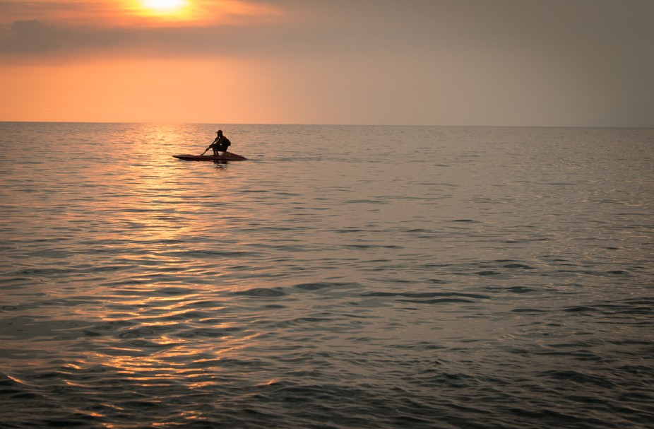Lombok sunset skiff