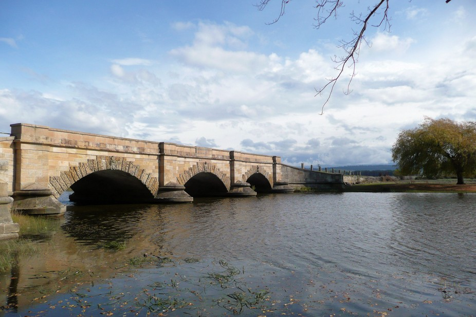This Georgian style bridge was built by convicts in the 1820\'s to improve the road between Launce...