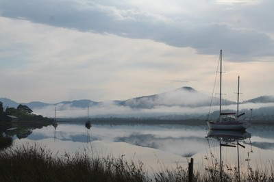 Morning on Huon River
