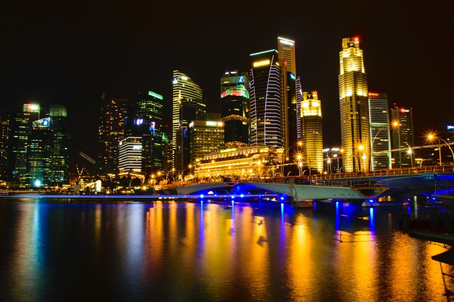 I am often amazed by the lights from a busy city like Singapore. Even the waterways were busy wit...