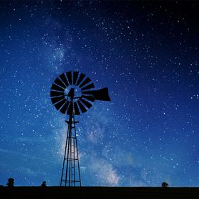 night windmill