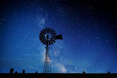night windmill