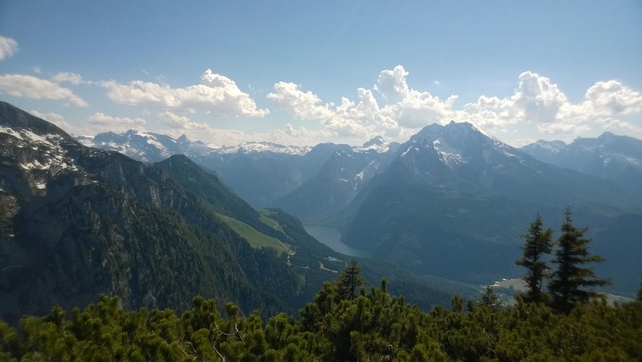 This is a view from the Hitler\'s Summer Palace which is located 30 miles from Salzburg in Germany