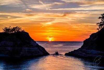 Sunset from Izu - Japan