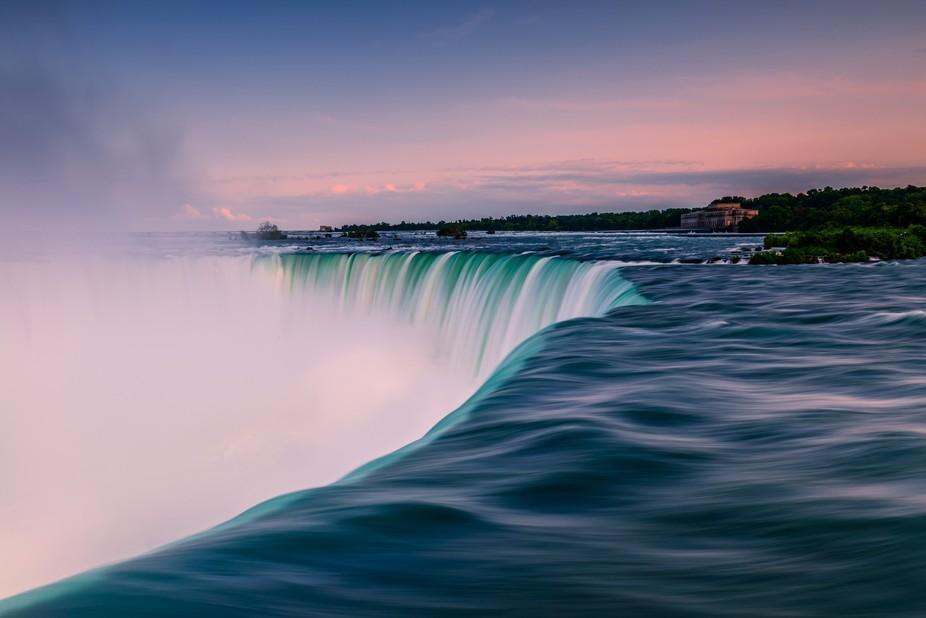 Sunset at Niagara Falls, Ontario.