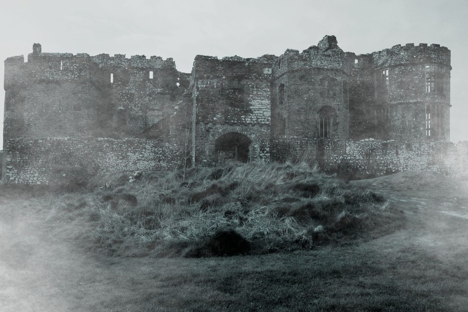 This is a picture of Carew Castle in Wales taken in Spring 2014 and then edited in Photoshop to g...