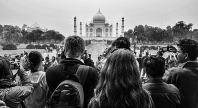 First Glimpse, Taj Mahal, Agra