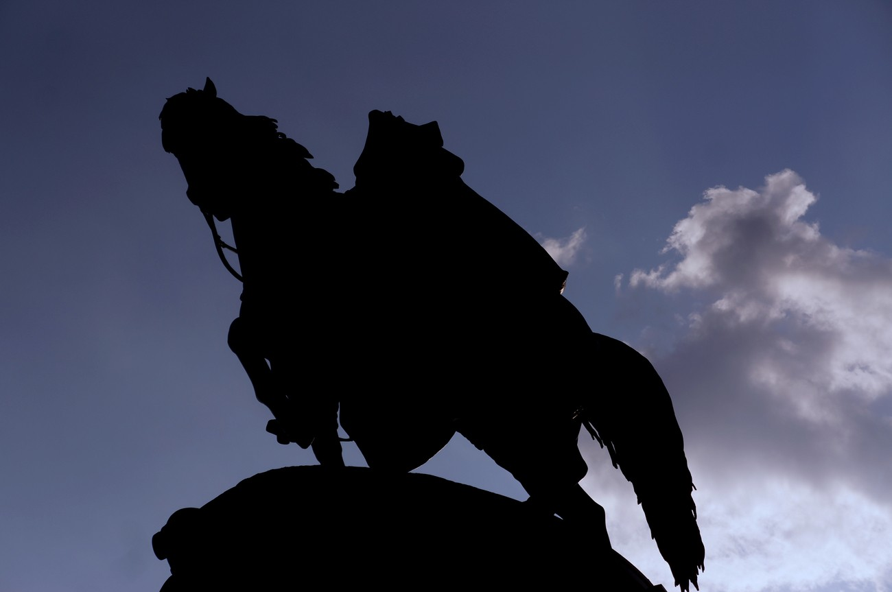 Man on a Horse Silhouette