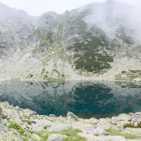 Beautiful high mountain lake in Rila mountain, Bulgaria