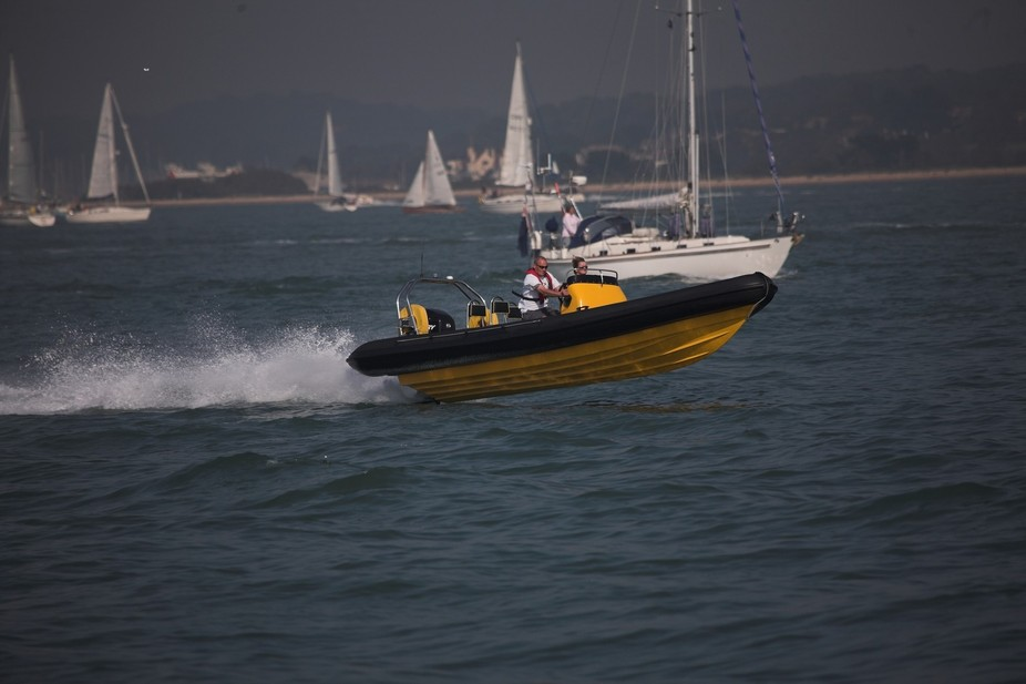 Wibbs Rib on The Solent in 2008