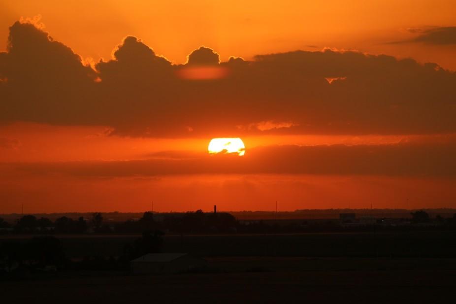 Sunset off of the top of the Ethanol Plant in Pratt, KS